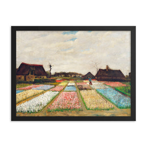 Gerahmter Kunstdruck 'Flower Beds in Holland' Vincent van Gogh