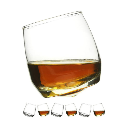 Set of 6 Rounded Base Whisky Glasses