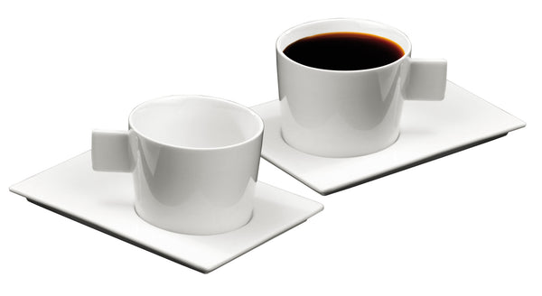 GEO MONDO set 2 American coffee cups and 2 saucers by Deagourmet