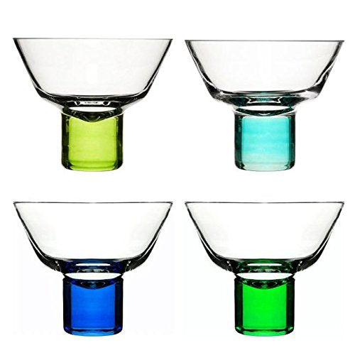 Sagaform Club Martini Glasses, Blue/Green, 10 x 10 x 9 cm