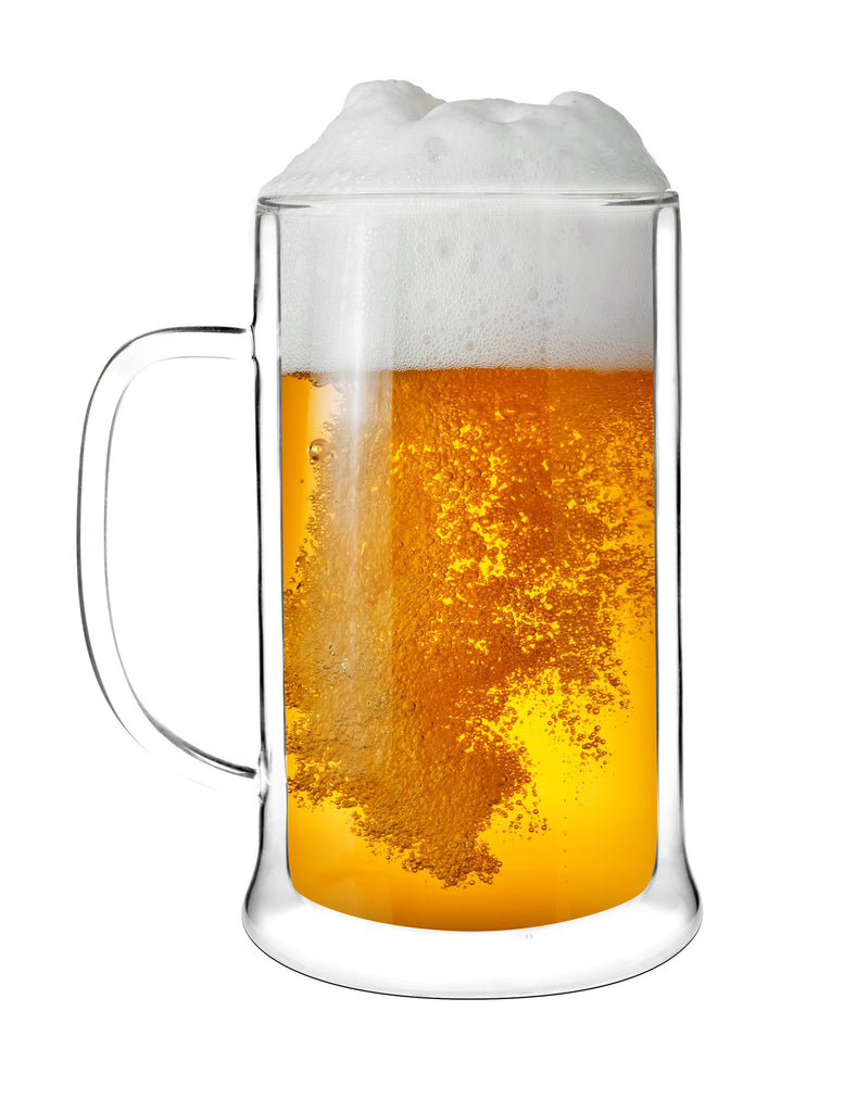 Vialli Design Amo Double Wall Beer Glass 500ml