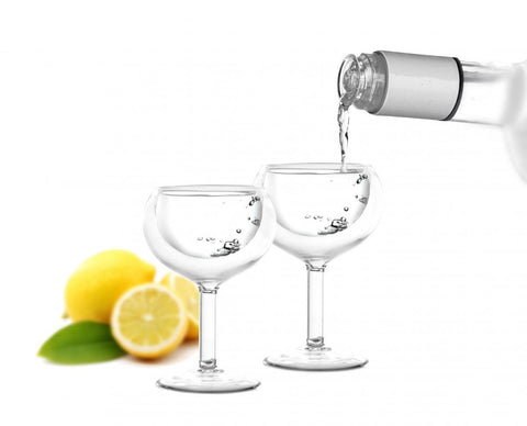 Vialli Design 2 pcs Vodka glass double wall 30ml