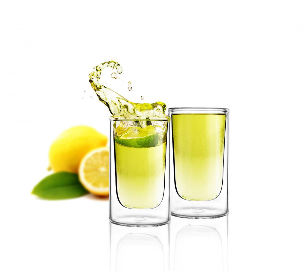 Vialli Design 2 pcs shot glass double wall 50ml