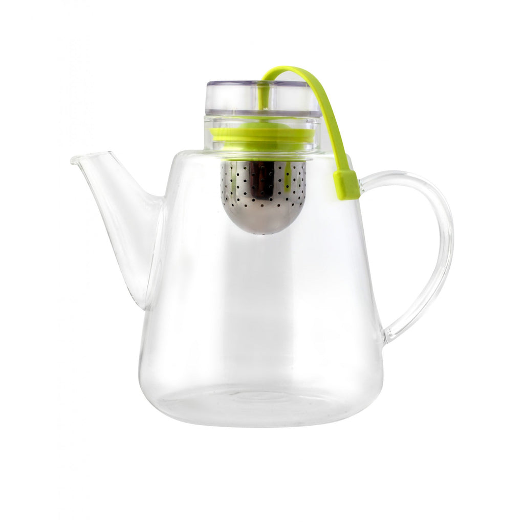 Vialli Design AMO Glass Teapot with Infuser 1.5L Green
