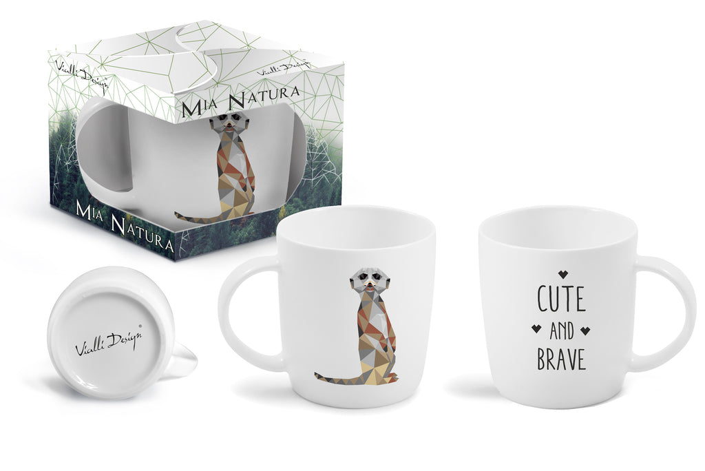 Mia Natura Vialli Design Mug 370ml High Quality Porcelain