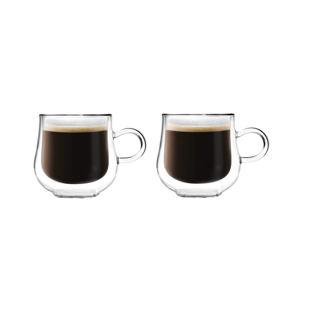 Vialli Design Bolla double walled coffee glasses 250ml x 2