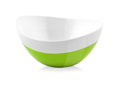 Vialli Design LIVIO 28cm Duo Oval Bowl, Green