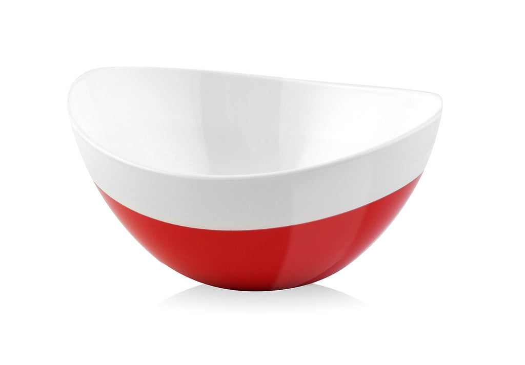 Vialli Design LIVIO 28cm Duo Oval Bowl, Red