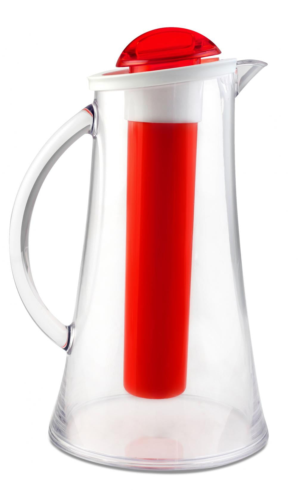 Vialli Design Pitcher 2.1L with Ice Tube, Red