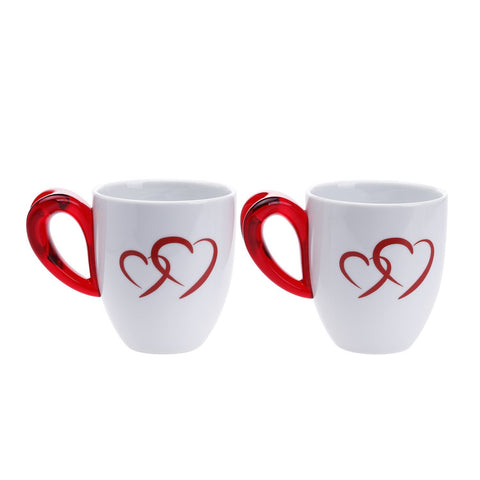 Guzzini Love Set of 2 Porcelain Mugs