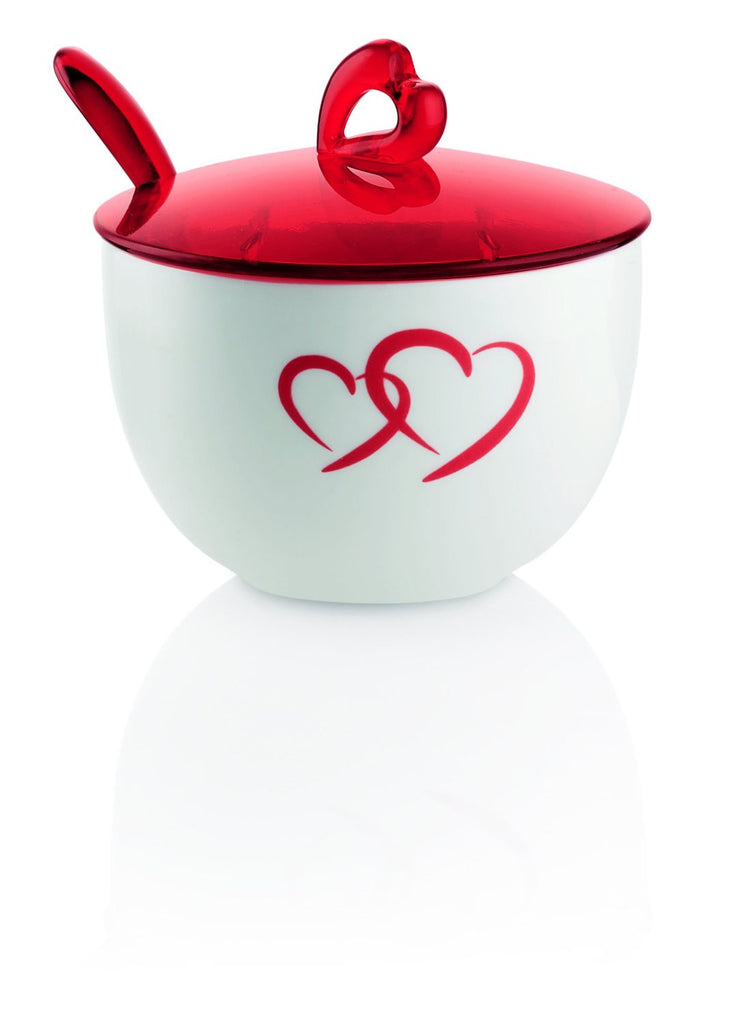 Guzzini Love Sugar Bowl with Spoon Gift Boxed Made In ITALY!