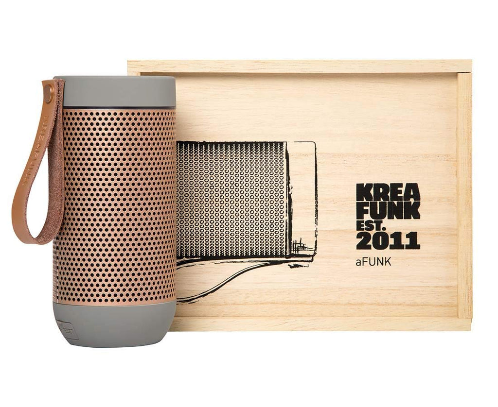 Kreafunk aFunk Wireless Bluetooth Speaker with Built-In Microphone Up to 20 hours playback time, allows pairing Cool Grey