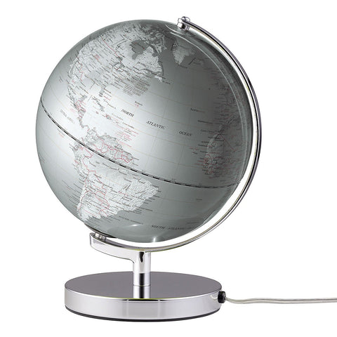 Emform TERRA LIGHT globe 25cm with an energy-saving lamp Silver