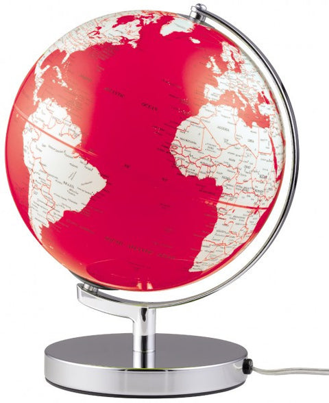 Emform TERRA LIGHT globe 25cm with an energy-saving lamp Red