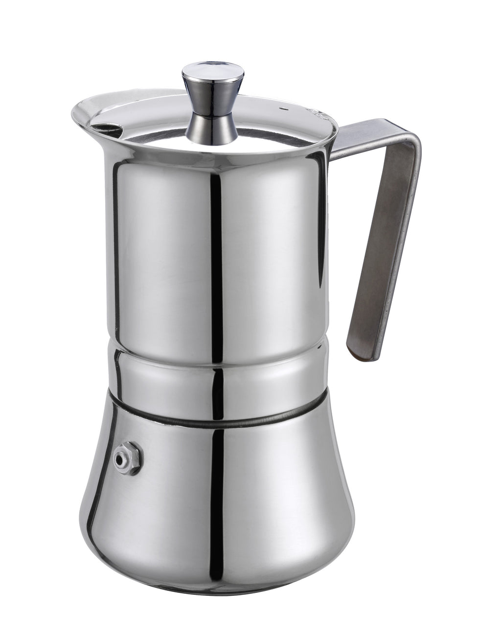 GAT PRATIKA Stovetop Espresso Coffee Maker STAINLESS STEEL 18/10 Made In Italy!