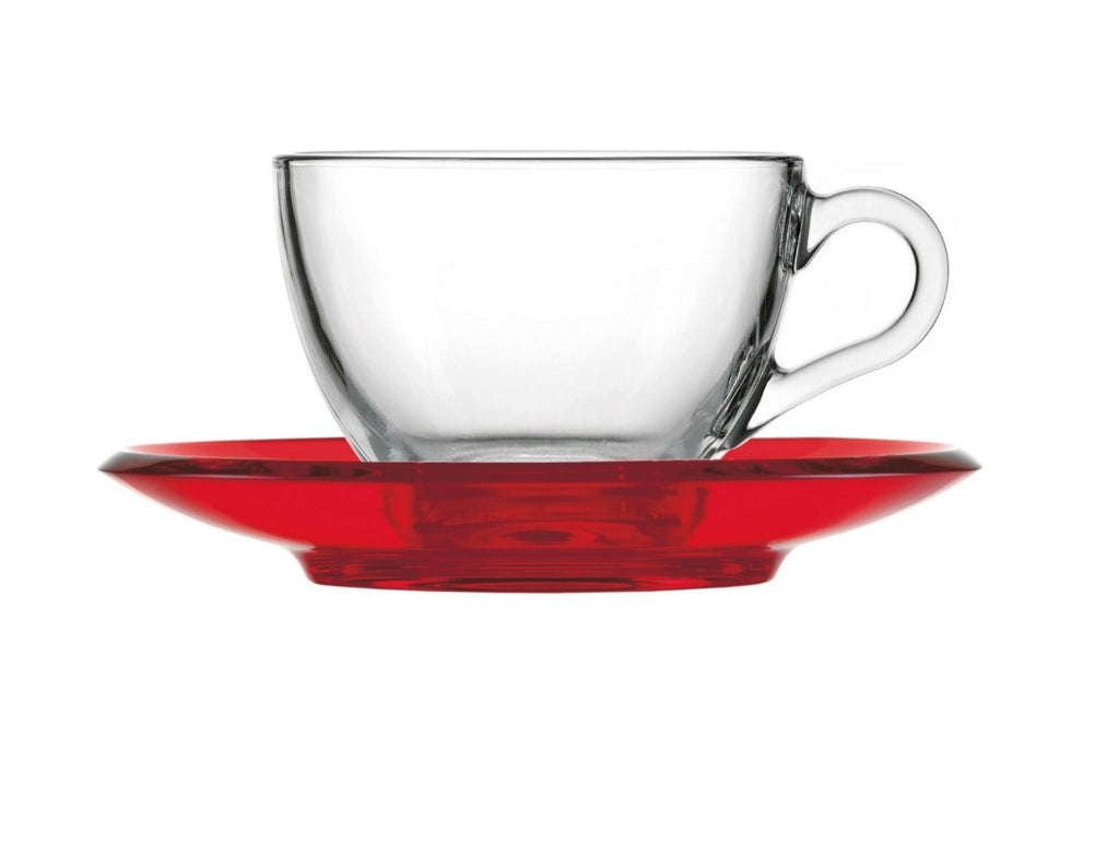 Guzzini Cappucino/Tea cup with saucer Red