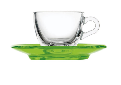 Guzzini espresso cup with saucer Green