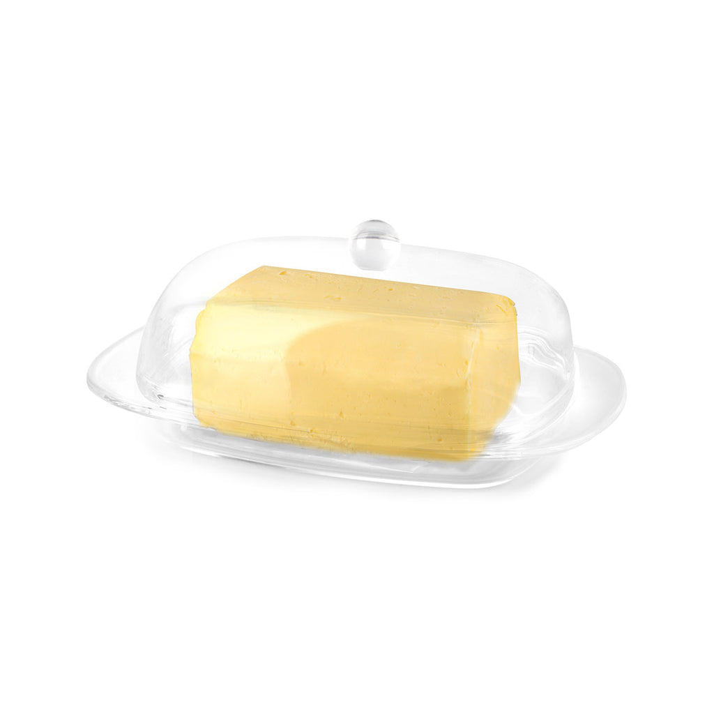 Vialli Design LIVIO Butter Dish, Transparent