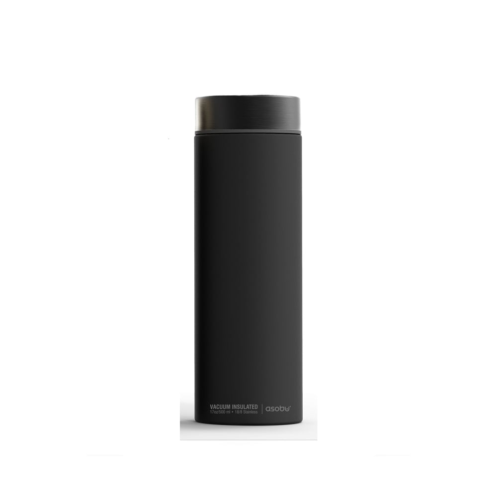 ASOBU Le Baton 24 Hour Travel Bottle (500ml) - Black/Grey (Smoke)
