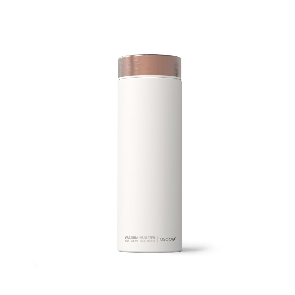 ASOBU Le Baton 24 Hour Travel Bottle (500ml) - White/Copper