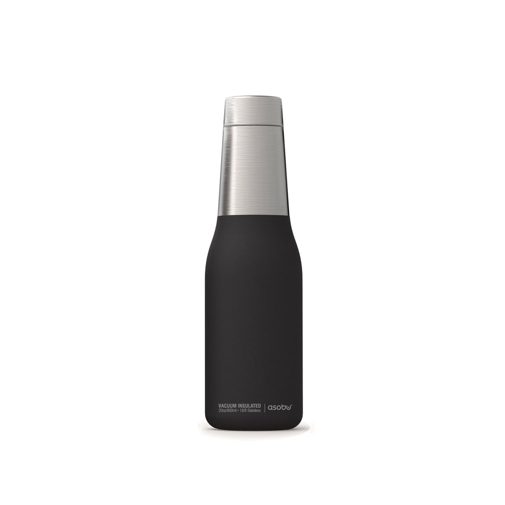 ASOBU Oasis 24 Hour Copper Insulated Water Bottle (600ml) - Black