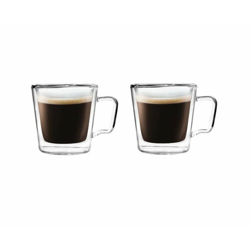 Vialli Design Diva double walled espresso glasses 80ml x 2