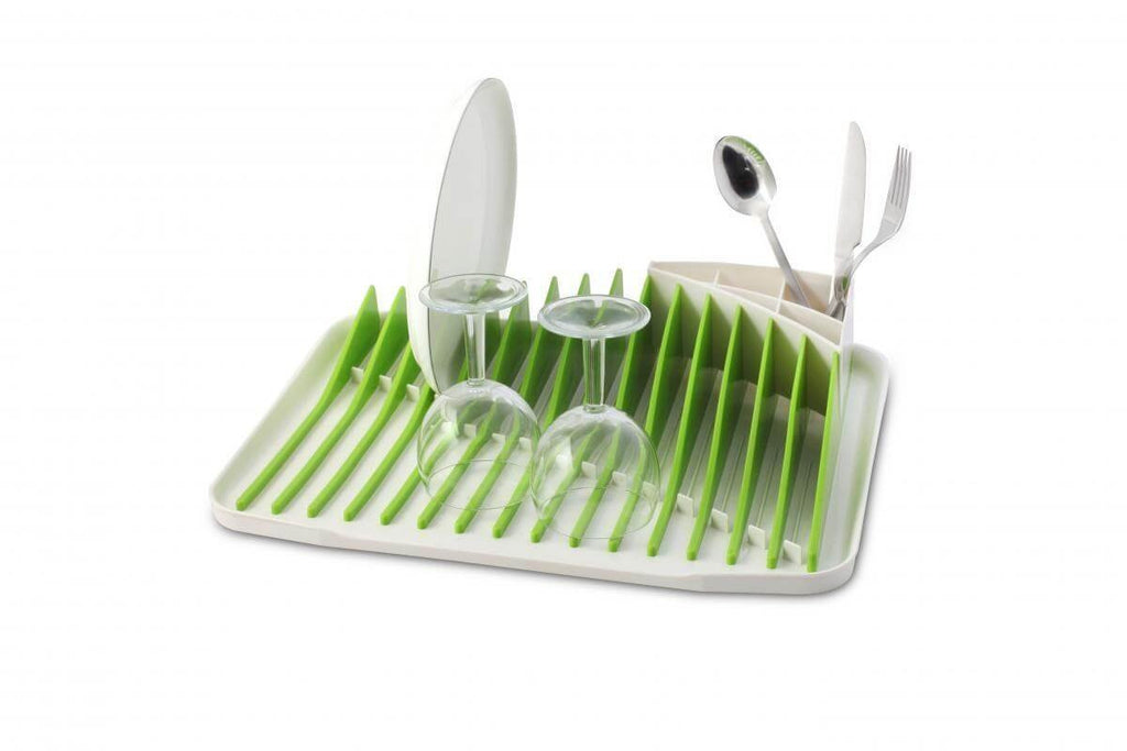 Vialli Design Dish Rack Drainer Piano White-Green
