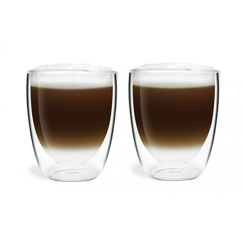 Vialli Design double wall tea/coffee glass 320ml Set of 2