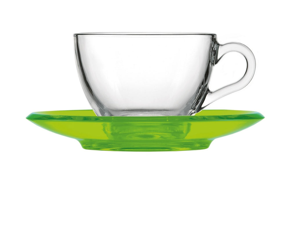 Guzzini Cappucino/Tea cup with saucer Green