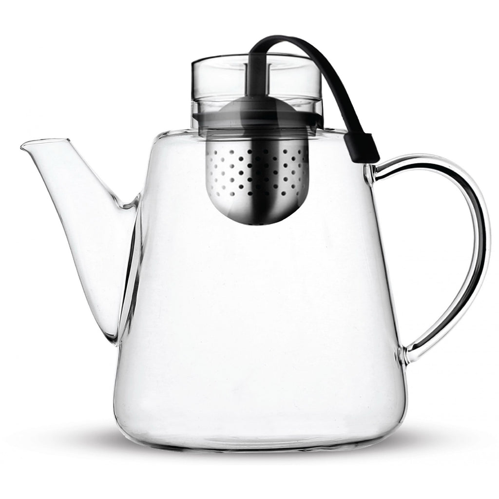 Vialli Design AMO Glass Teapot with Infuser 1.5L Black