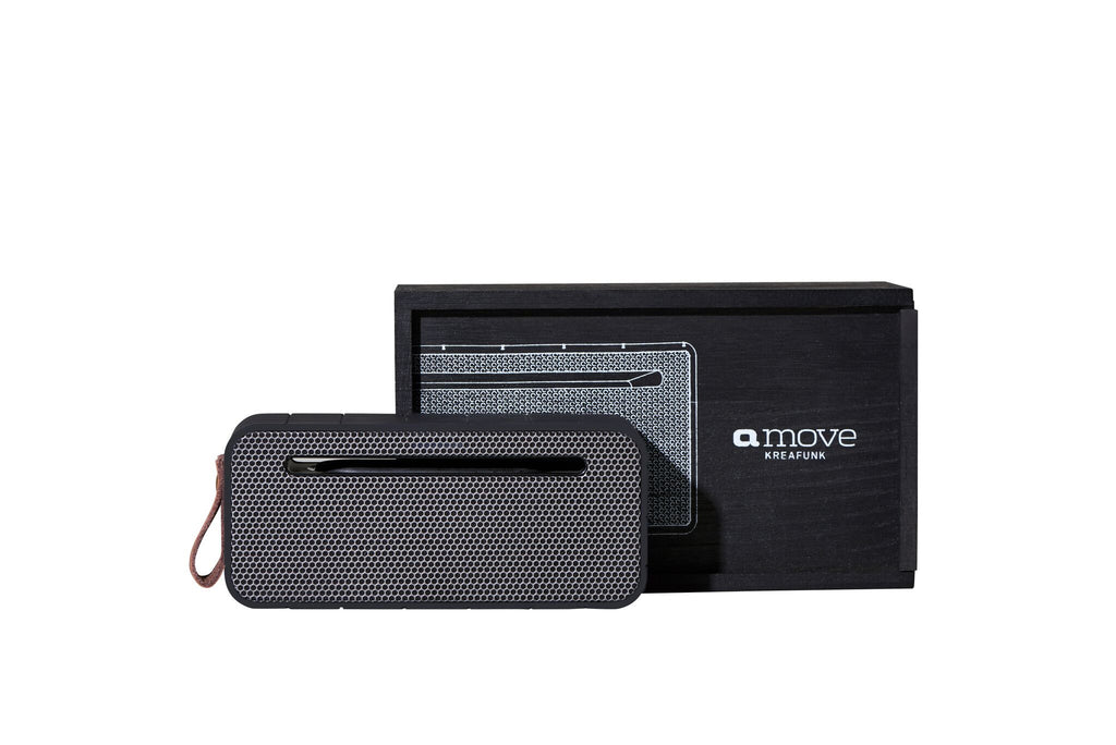 aMove Bluetooth Speaker - Black with gunmetal front
