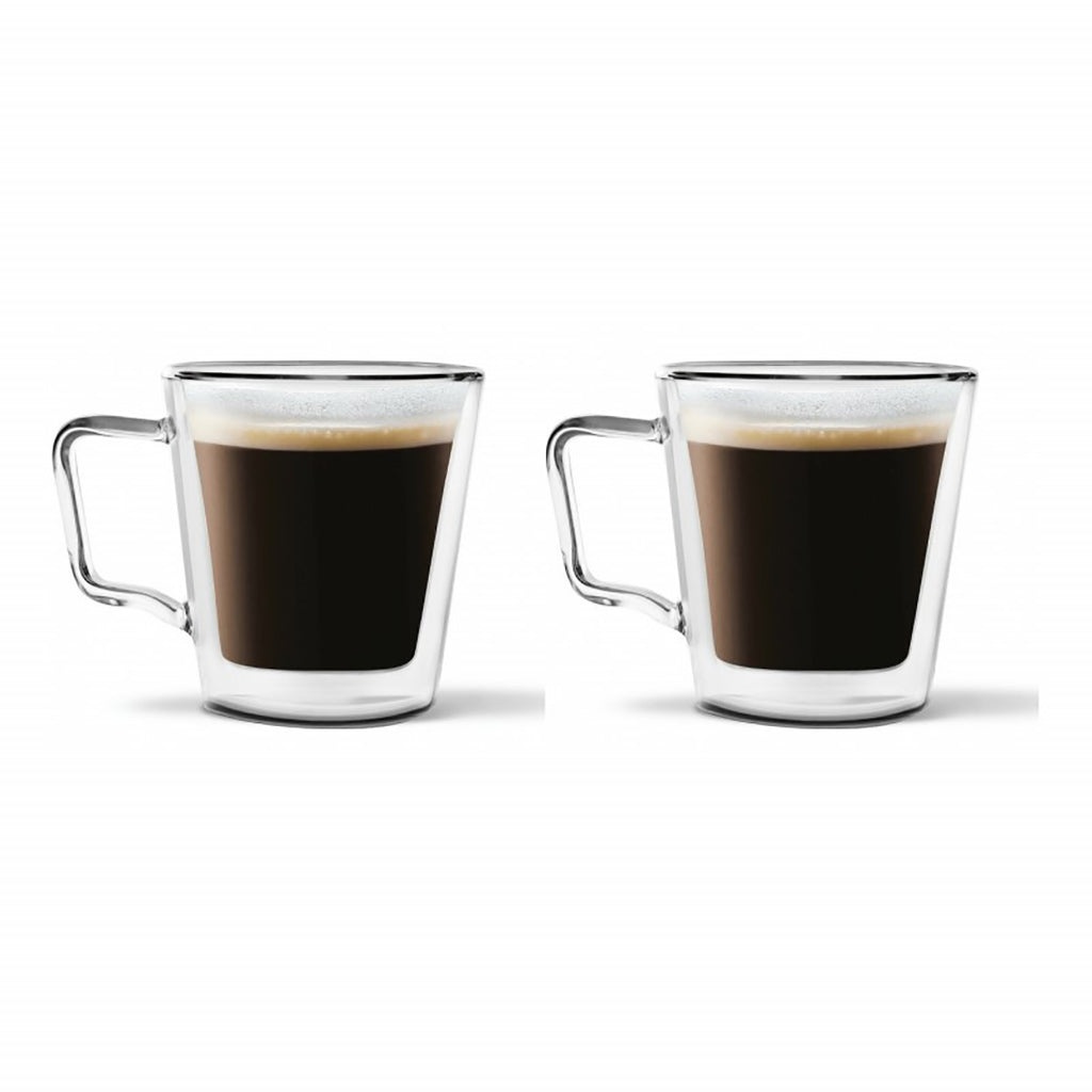 Vialli Design Diva Double Walled Tea/Coffee Glasses Set of 2, 250ml