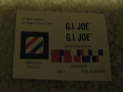 E010 GI Joe Hasbro Ribbon Decal set Nice!