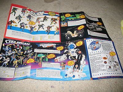 P035 Hasbro GI Joe 30th Anniversary Catalogu Sheet Brand New Unused!