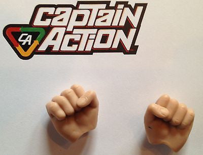 A293 Exclusive Captain Action contemporary reissued right & left fists new unused!