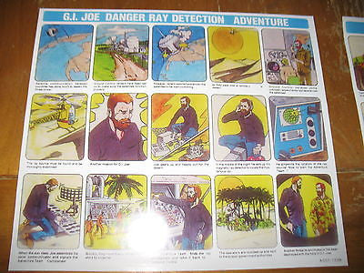 P063 3SB Reproduction Danger Ray Detection Comic & Instruction Sheet.