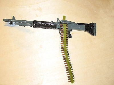 W035 GI JOE Hasbro Metal M60 Marine machine gun with bi-pod new!