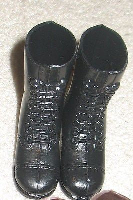 F002 GI JOE Hasbro Reissued Tall black Boots New.