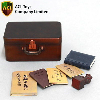 A296 ACI Toys 1/6 Sun Yat Sen Accessories: Suitcase, 5 Books & Shishi Stamp Statue new.
