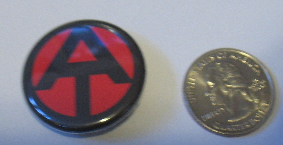A204 3rd SON Books 1 inch multi-colored Adventure Team pin backed button, custom brand new!