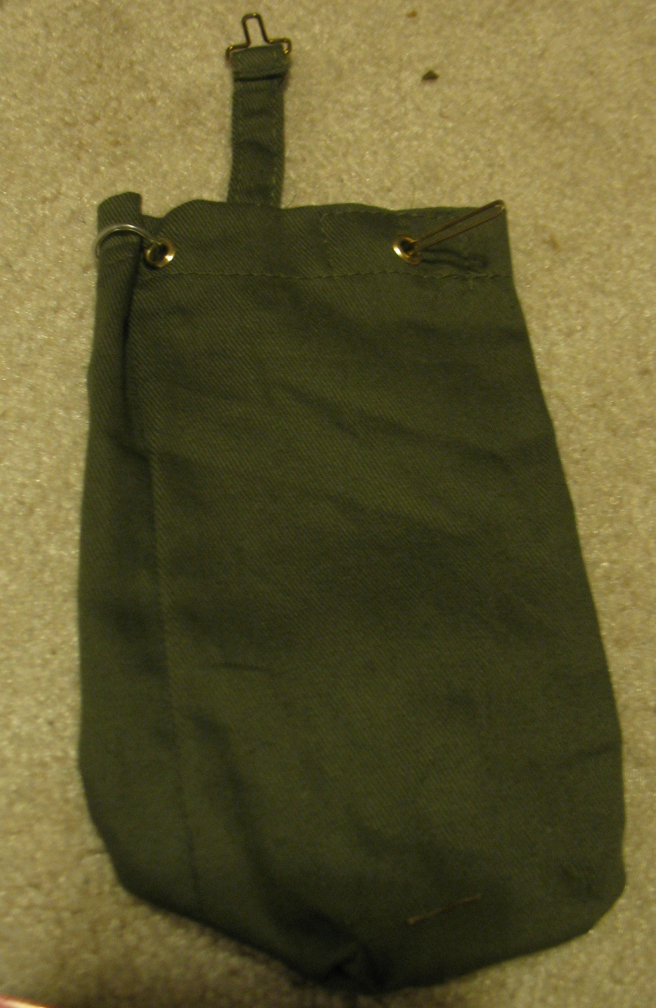 A042 Hasbro GI JOE reissued full sized duffle bag with brass hardware, brand new!