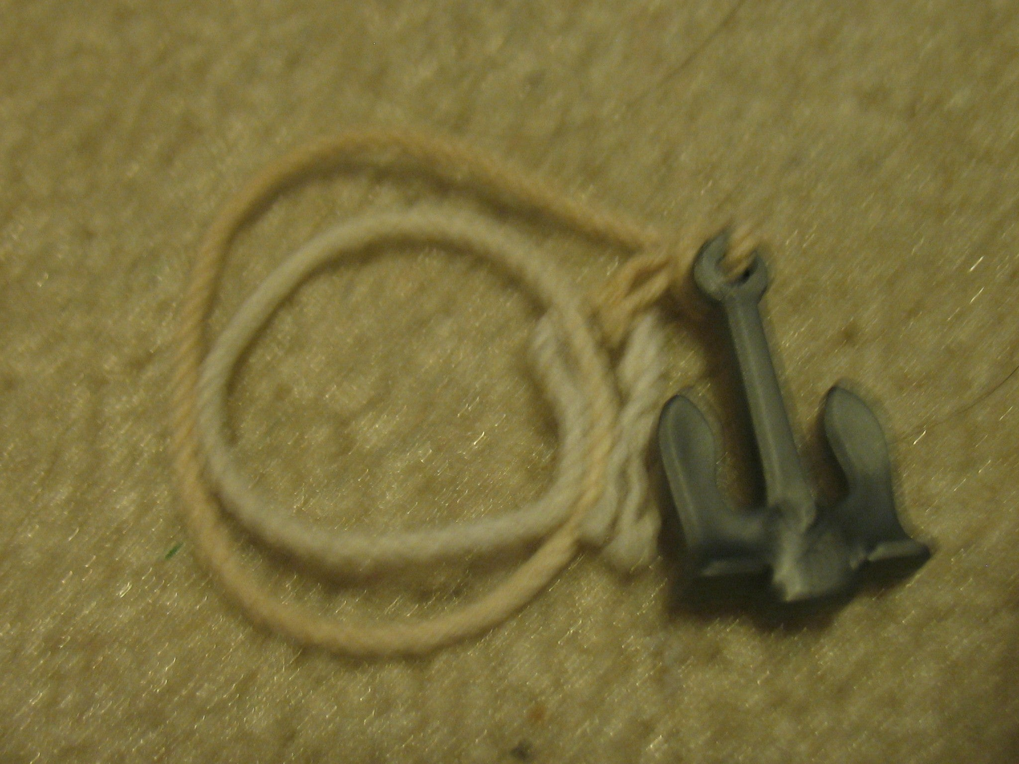 A061  Anchor and rope for blow up rafts, brand new unused!