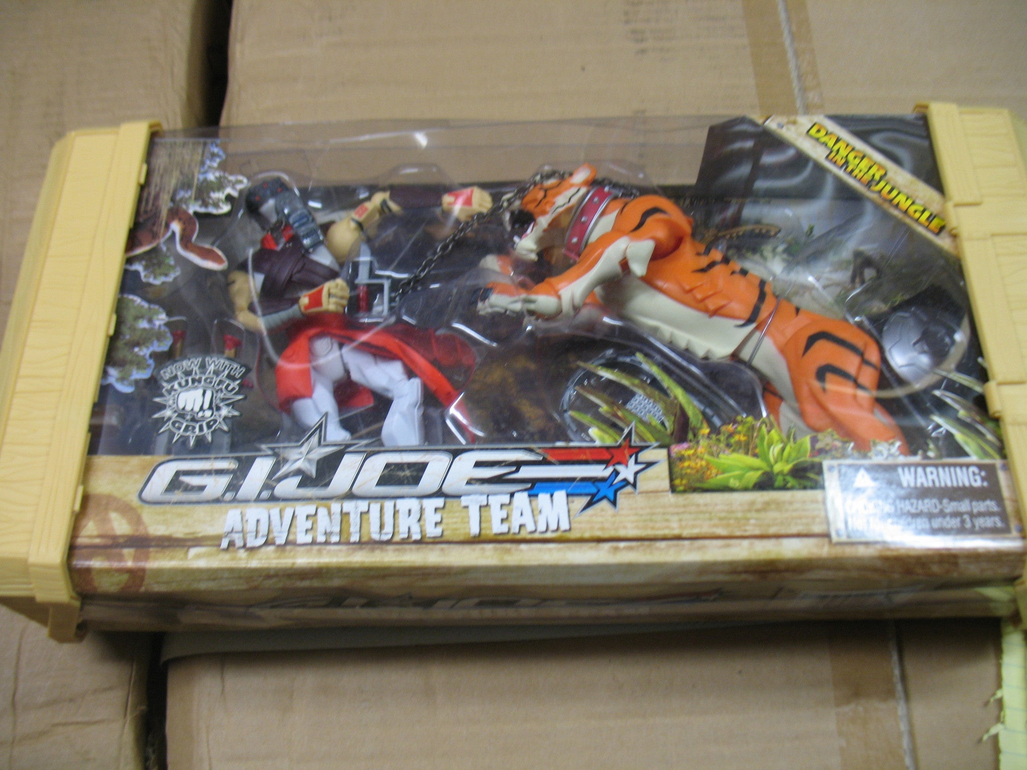 D132 GI JOE Hasbro Sigma 6 size Danger in the Jungle Brand new unused!