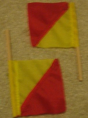 A012 GI Joe HASBRO Reissued Semaphore Flags new .