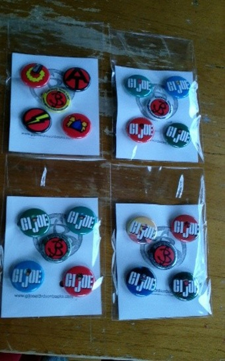 A406 Convention Pin Collection of 16 different GI JOE Buttons