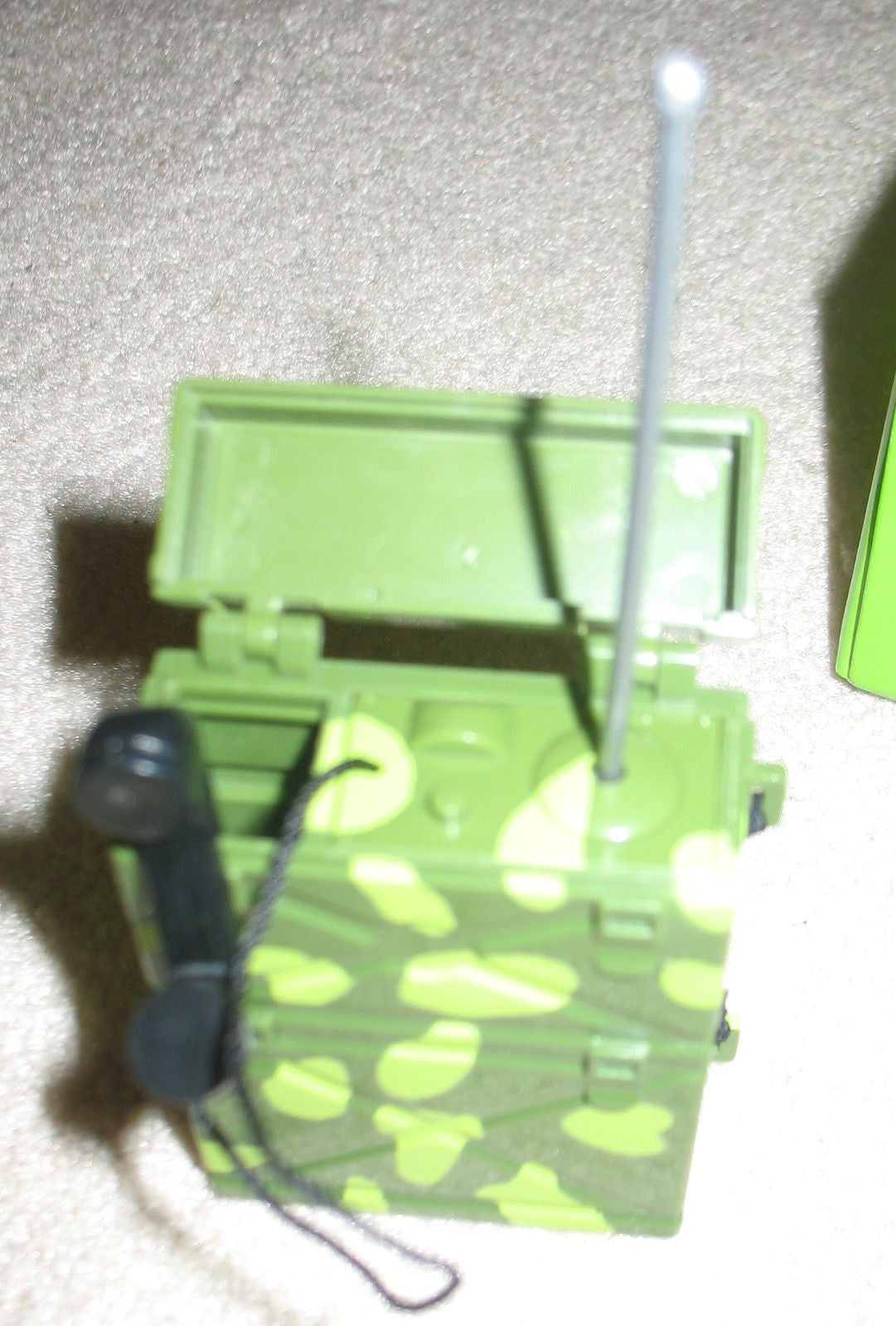 A095 GI JOE Hasbro Reissued Marine Camoflauged Backpack Radio.