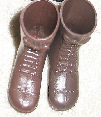 F003 GI JOE Hasbro Reissued Tall brown Boots New.