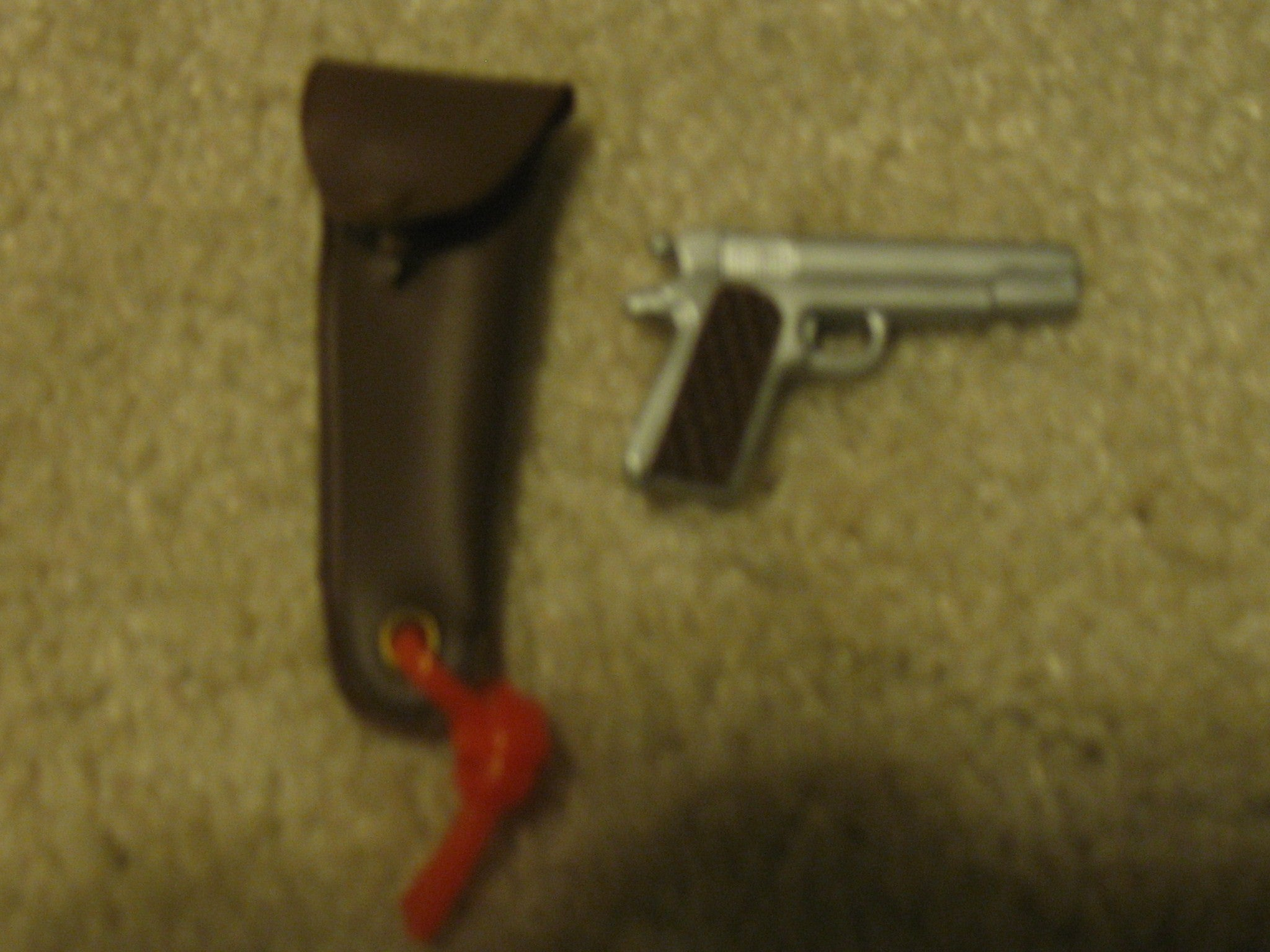W021 GI Joe Hasbro  .45 &  Holster new!