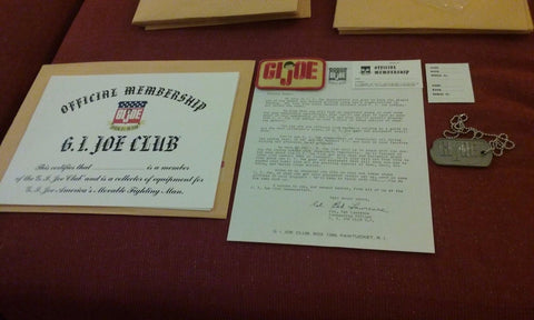 S092 Reproduction GI JOE Club Membership Set