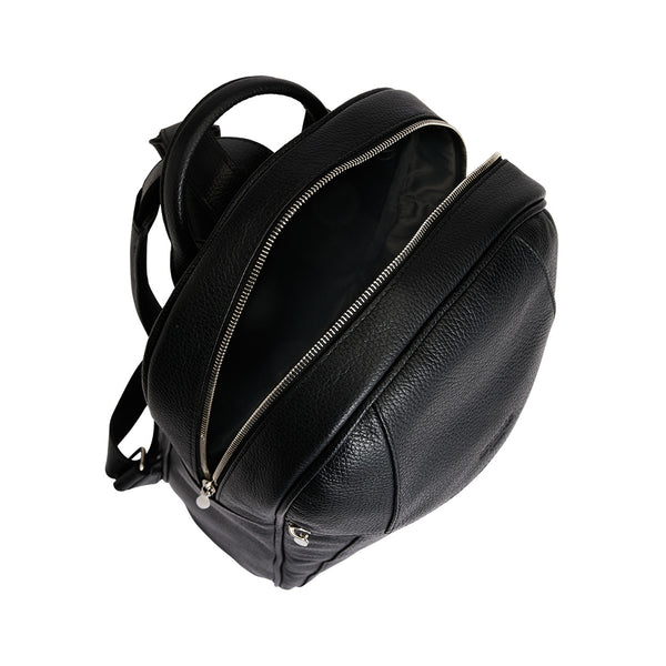 Arsante® Backpack Leather Rich Black